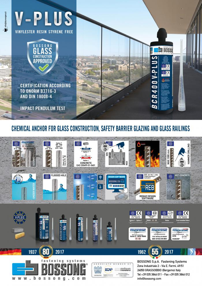 BCR V-PLUS FOR FIXING SAFETY BARRIERS