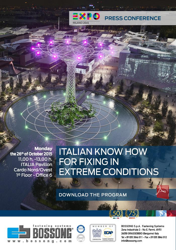 Bossong Italian know how for fixing in extreme conditions