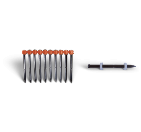 KDHC Bossong powder actuated nails for provisory fixings, in magazine